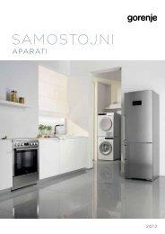 Pdf katalog: Samostojni aparati 2012 - Gorenje