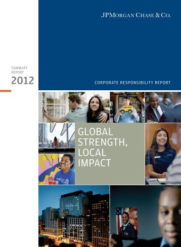 Corporate Responsibility Report - JPMorgan Chase