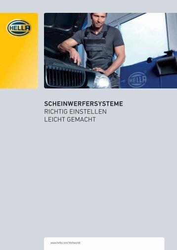 Broschüre Scheinwerfereinstellung - IAM-NET.EU