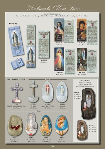 Bookmarks / Water Fonts - Christian Supplies