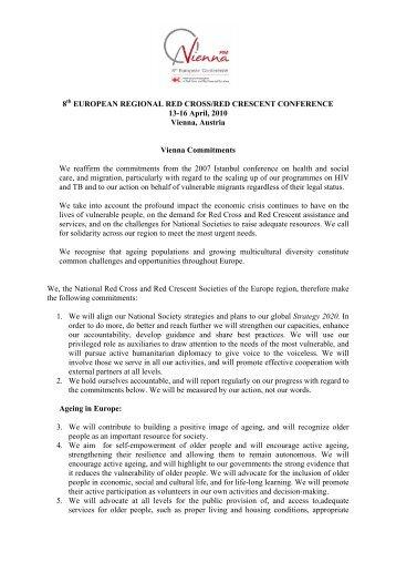 Vienna Commitments - Österreichisches Rotes Kreuz