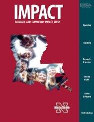 Nicholls Economic and Community Impact Study - University of ...