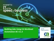 Building Jobs Using CA Workload Automation AE r11.3
