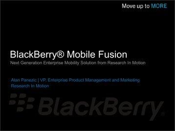 BlackBerry® Mobile Fusion - En Pointe Technologies
