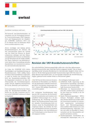 Revision der VKF-Brandschutzvorschriften - Swissi