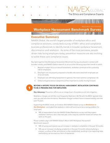 Workplace Harassment Benchmark Survey - NAVEX Global