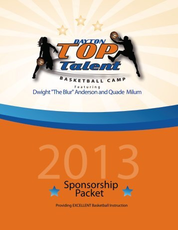 Sponsorship Packet - toptalentbasketball.com