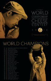 3 0 T H BIENNIAL - World Championship Cheese Contest