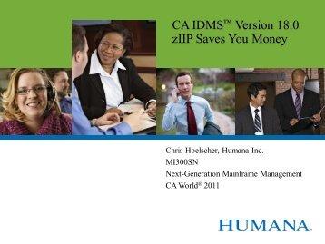 CA IDMS Version 18.0 zIIP Saves You Money