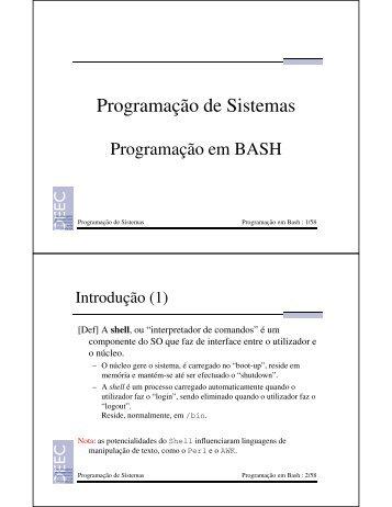 Programação em BASH
