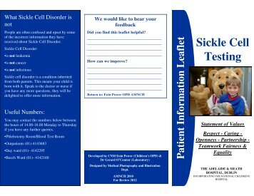 Sickle Cell Testing - Adelaide and Meath Hospital, Dublin ...