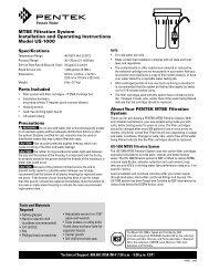 Pentek 155632-22 Phosphate Cartridge Reserve Filter Systems Inc.
