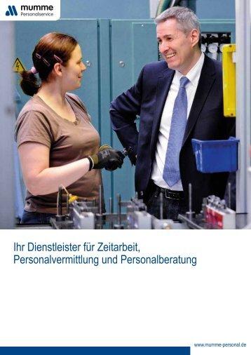 Unternehmensbroschüre.pdf - Mumme Personalservice GmbH