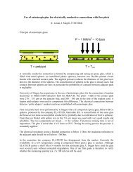 Use of anisotropic glue for electrically conductive