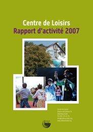Centre de Loisirs Rapport d'activité 2007