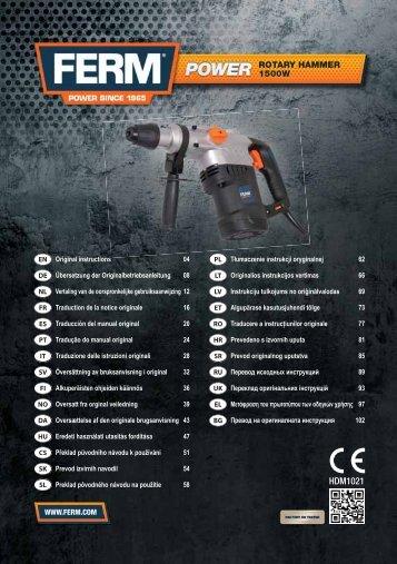 HDM1021 - Servotool services