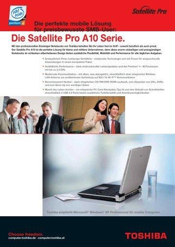 Die Satellite Pro A10 Serie. - Toshiba