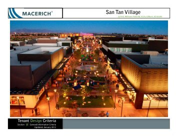San Tan Village General Information Criteria - Macerich