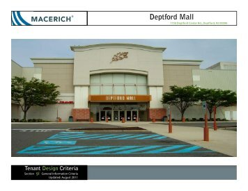 Deptford Mall General Information Criteria - Macerich