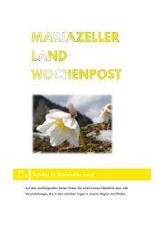 Mariazeller Land Wochenpost KW 16-17 - Mariazellerland Blog