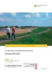 Best Practice Gesundheitsförderung im Alter Evaluation 2011–2013
