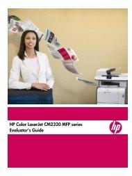 HP Color LaserJet CM2320 MFP series Evaluator's Guide