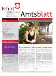 Amtsblatt Nr. 13 vom 23.08.2013 der Landeshauptstadt Erfurt