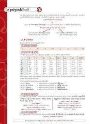 Scheda 37: Le preposizioni - Loescher Editore