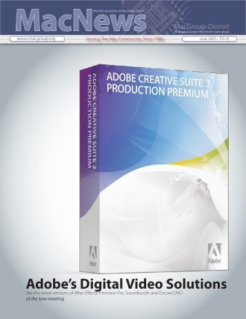 Adobe's Digital Video Solutions - MacGroup-Detroit