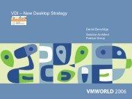 VDI – New Desktop Strategy - VMware