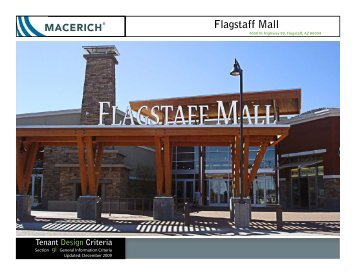 Flagstaff Mall General Information Criteria - Macerich