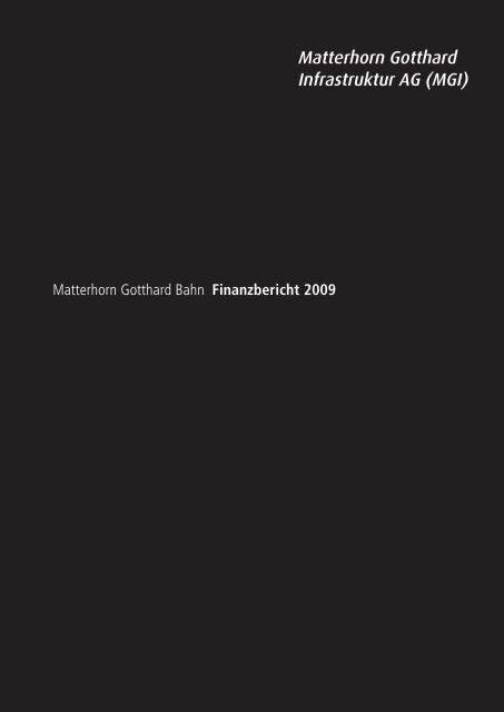Matterhorn Gotthard Infrastruktur AG (MGI) - Matterhorn Gotthard Bahn
