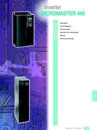Inverter MICROMASTER 440 - MAWOS