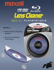 Blu-ray Disc Lens Cleaner - Maxell Canada