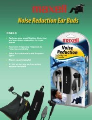 Noise Reduction Ear Buds - Maxell Canada