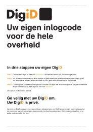 Factsheet DigiD voor burgers - Logius