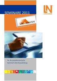 Seminar Planer 2011 - Lucas-Nülle Lehr