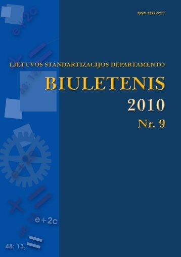 2010 Nr. 9 - Standartizacijos departamentas prie AM