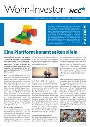 Newsletter NCC Wohn-Investor 4/2013 zum Download