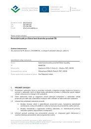 Zadávací dokumentace - Státní fond životního prostředí