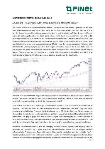 Markt-Kommentar Januar 2014 FiNet Asset Management AG