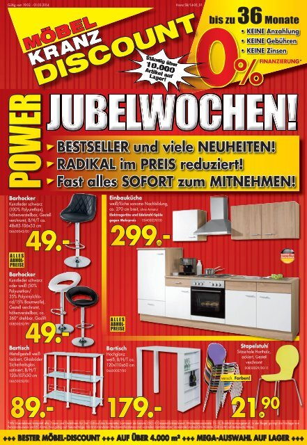 Möbel Kranz Discount Uelzen Power Jubelwochen