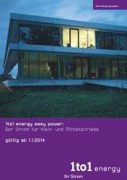 1to1 energy easy power: Der Strom für Klein- und ... - ibh