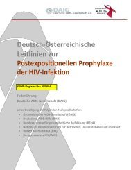 HIV-Infektion - Postexpositionelle Prophylaxe - AWMF