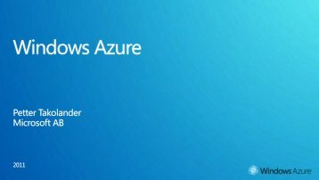 Windows® Azure™ EBC Presentation - Microsoft