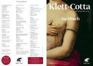 Neuerscheinungen Sachbuch Frühjahr 2014 - Klett-Cotta