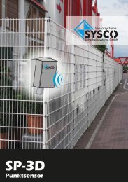 SP-3D Punktsensor - SYSCO Sicherheitssysteme GmbH