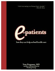 e-Patients are a Valuable Healthcare Resource