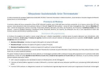 16/07/2012 Aggiornamento report servizi socio ... - CGIL Modena