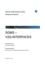 SGMS – V2G-INTERFACES - Smart Grids